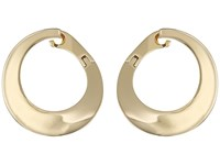 Vince Camuto Twisted All Metal Crossover Earrings Gold Earring