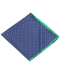 Club Room Dots Pocket Square Only At Macy's Navy Green