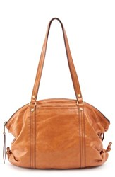 Hobo Flourish Leather Shoulder Bag Brown Earth