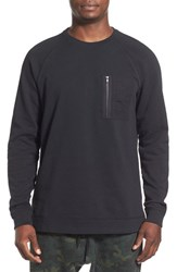 The Rail Men's French Terry Zip Pocket Raglan Pullover