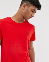 Cheap Monday T Shirt With Tiny Skull Logo In Red