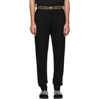 Versace Underwear Black Greca Border Lounge Pants