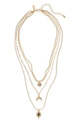 Topshop Layered Pendant Necklace Multi