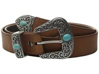 Ariat Turquoise Stone Belt Brown Women's Belts