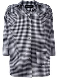 Rossella Jardini Checked Shirt Black