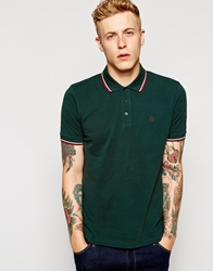Merc Polo Shirt With Tipping Darkgreen