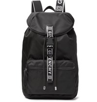 Givenchy Leather Trimmed Nylon Backpack Black