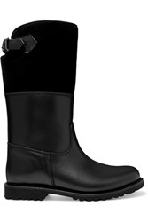 Ludwig Reiter Maronibraterin Shearling Lined Leather And Suede Boots Black