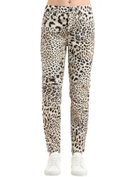 G Star By Pharrell Williams Elwood Leopard Print Denim Jeans Multicolor