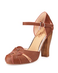 Seychelles Get Loud Leather Pump Whiskey