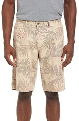 Original Paperbacks Men's Havana Print Linen Shorts