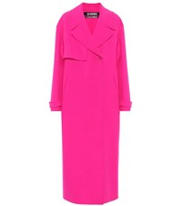 Jacquemus Le Manteau Sabe Virgin Wool Coat Pink