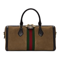Gucci Brown Suede Ophidia Bowling Bag