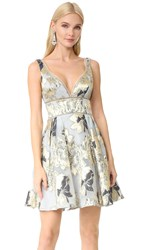 Marchesa Cocktail Dress Grey