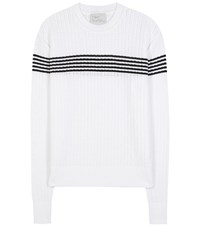 Hillier Bartley Knitted Cotton Sweater White