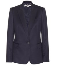 Stella Mccartney Iris Wool Twill Blazer Blue