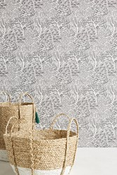 Dwellstudio Sprouted Shrubs Wallpaper Black White