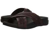 Fitflop Surfer Slide Chocolate Brown Sandals