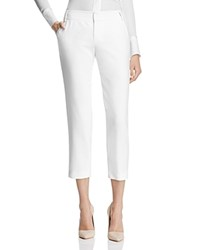Alice Olivia Stacey Slim Cropped Pants Off White