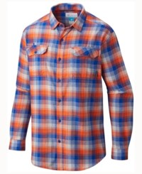 Columbia Men's Florida Gators Flare Gun Long Sleeve Flannel Button Up Shirt