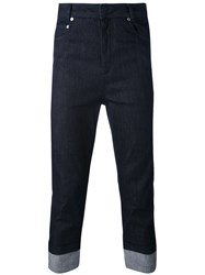 Neil Barrett Cropped Jeans Men Cotton Polyurethane 32 Blue