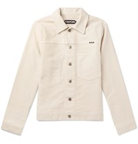 Tom Ford Denim Trucker Jacket Neutrals