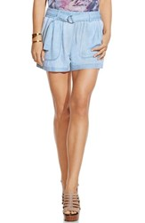 Vince Camuto Women's Two By 'Pastel Fade' Belted Cargo Shorts Echo Blue