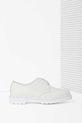 Nasty Gal Dr. Martens 1461 3 Tie Leather Shoe White