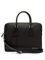 Prada Saffiano Leather Briefcase Black