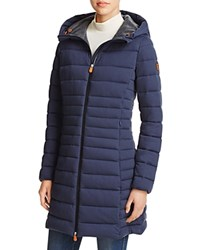 Save The Duck Angy Long Puffer Coat 100 Bloomingdale's Exclusive Navy Melange