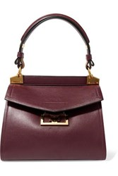 Givenchy Mystic Small Leather Tote Dark Purple