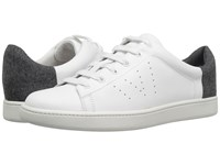 Vince Varin Plaster Macho Calf Grey Flannel Women's Shoes White