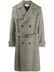 Alexander Mcqueen Exploded Dogtooth Trench Coat Black