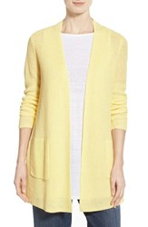 Women's Eileen Fisher Organic Linen Straight Cardigan Daisy
