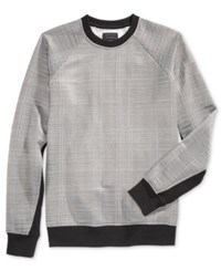 Guess Men's Reeves Jacquard Sweatshirt Grey Black