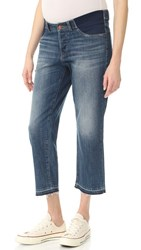 Dl1961 Patti High Rise Straight Maternity Jeans Staggered