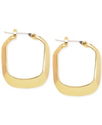 Kenneth Cole New York Gold Tone Rectangle Hoop Earrings