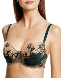 Wacoal Lace Affair Underwire Lace Bra Forest Green