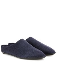 The Row Bea Cashmere Slippers Blue