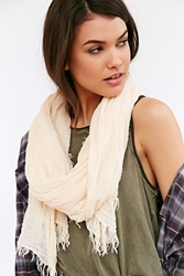 Urban Outfitters Dream Gauze Scarf Ivory