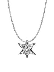 Alex Woo 14K White Gold Star Pendant Necklace Silver