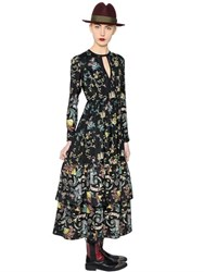 Antonio Marras Floral Printed Crepe Dress