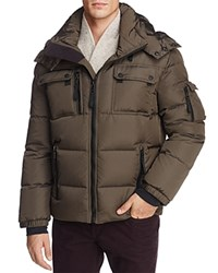 Sam. Collins Hooded Puffer Jacket Military Green