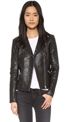 Veda Dallas Leather Jacket Black