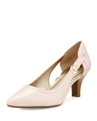 Circa Joan And David Clarity Cutout Pointed Toe Pump Light Pink
