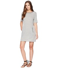 Alternative Apparel Eco Jersey Pocket T Shirt Dress Eco Grey Riviera Stripe Gray