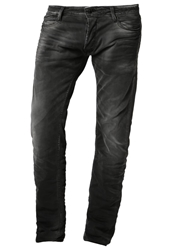 Japan Rags Slim Fit Jeans Black Black Denim