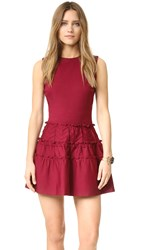 Red Valentino Ruffle Dress Amarena