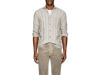 Inis Meain Striped Washed Linen Shirt