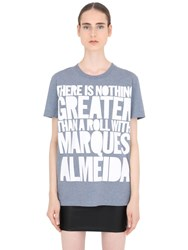 House Of Holland Marques Almeida Cotton Jersey T Shirt